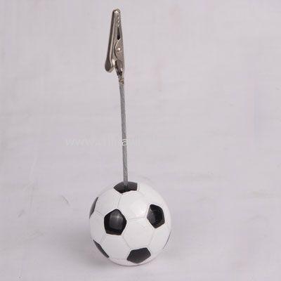 Memo holder in football shape