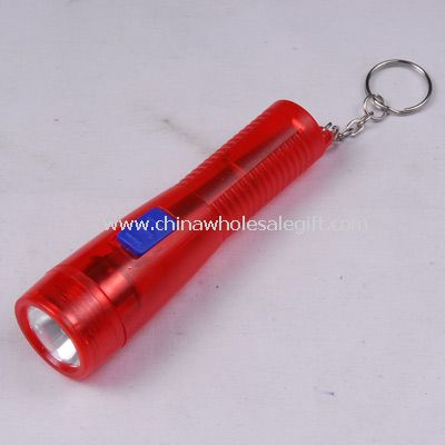 Plastic torch with key ring