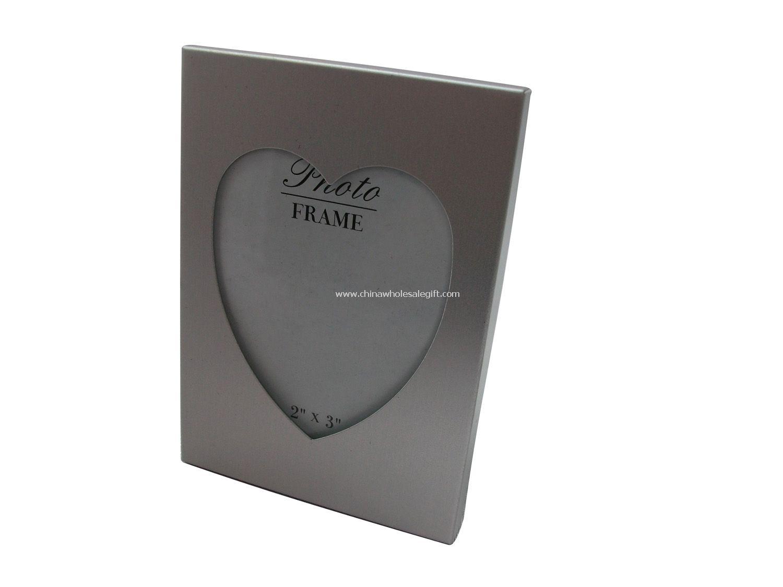 aluminium heart shape photo frame