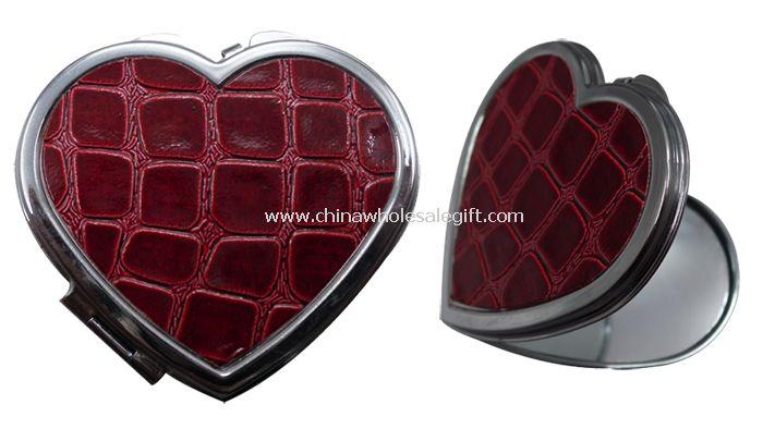 cosmetic mirror in heart shape