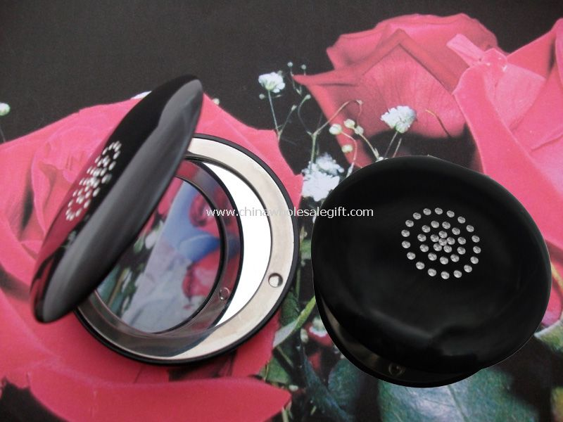Cosmetic mirror with CZ Stone