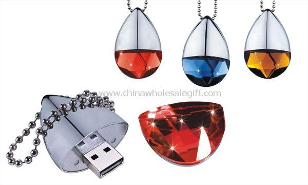 Heart Shape diamond USB Flash Disk
