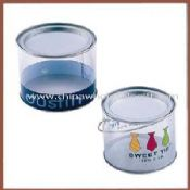 PET tube with tin lid and tin base images