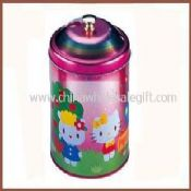 Round shape Cookie jar with plastic knob images