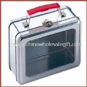Tin Lunch Box With PVC/PET window on lid images