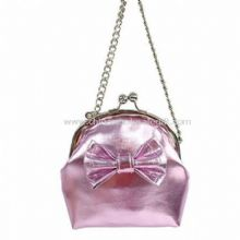Metallic PVC Chained Frame Bag with Crocodile PVC Bow images