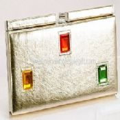 Metallic Shiny PVC Evening Frame Bag images