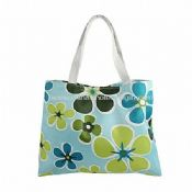 Polyester Flower Print Tote Bag images