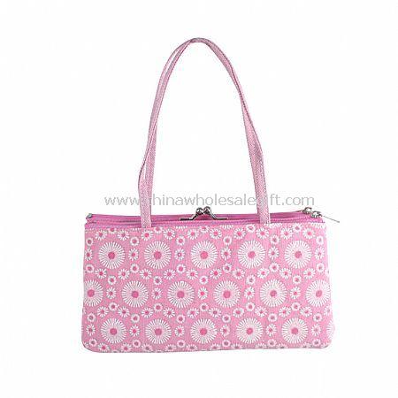 Sparkling Circular Pattern Polyester Frame Bag