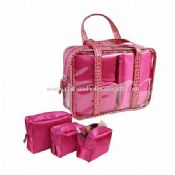 Polyester Satin Cosmetic Bag Set images