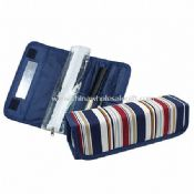Strips Pattern Polyester Toiletry Bags in Cube Shaped images