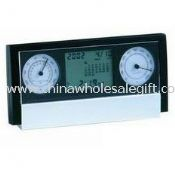 LCD ALARM CLOCK WITH CALENDAR THERMOMETER images