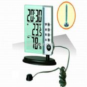 LCD ALARM CLOCK with INDOOR AND OUTDOOR THERMOMETER images