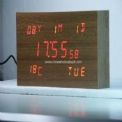 LED Wooden Clock images