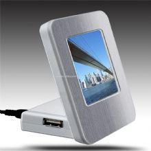 usb hub with metal photo frame images