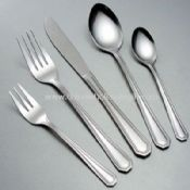 Stainless steel cutlery set with 18/0 material images