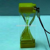 Mobile phone strap into the oil hourglass images