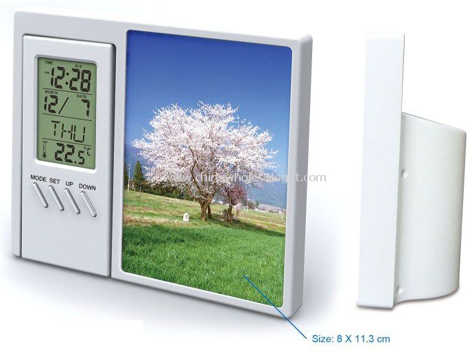 LCD Alarm Clock with Photo Frame