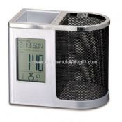 LCD Clock with Mesh Pen holder images