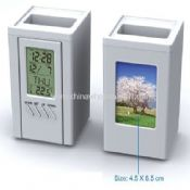 Multi-function Detacheable LCD Clock with Pen Holder images