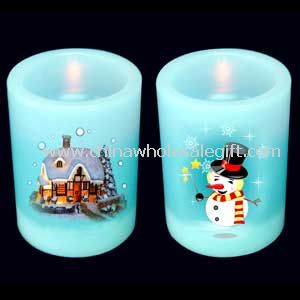 LED WAX CANDLE LIGHT WITH PICTURES PRINTED