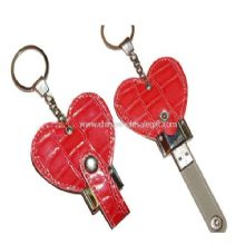 Leather Heart USB Flash Drive images