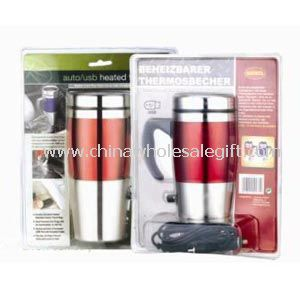 12v heated mug with PVC packing