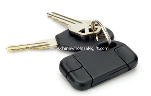 Retractable USB Cable keychain for Micro Mini USB and IPhone