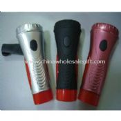 Hand crank dynamo flashlight images