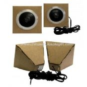 Mini speaker with kraft paper material images