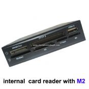 Internal card reader withTF and M2 slot, ONE USB PORT ,Two LED images