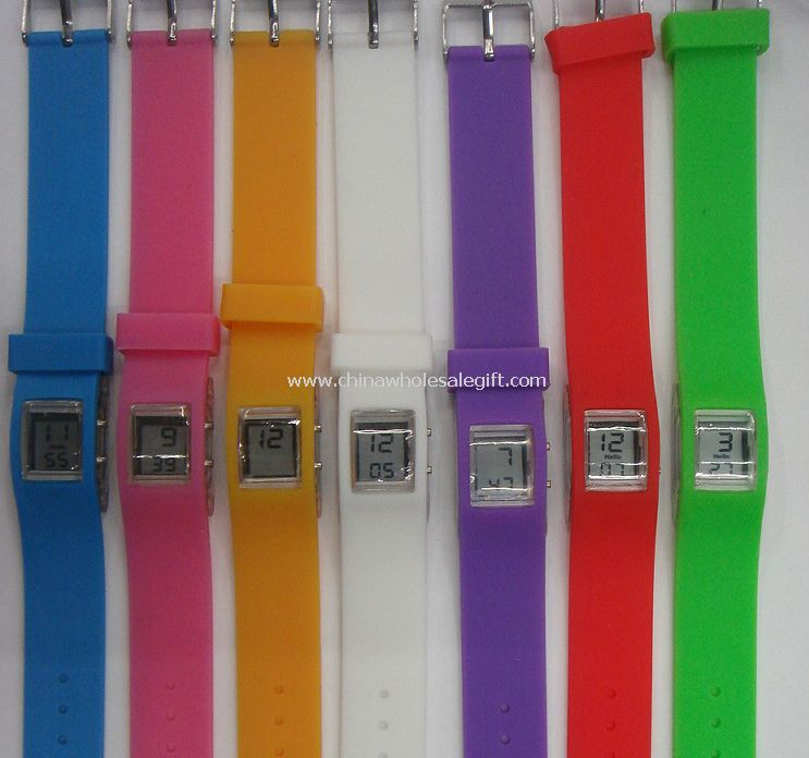 chewing gum digital silicon watch