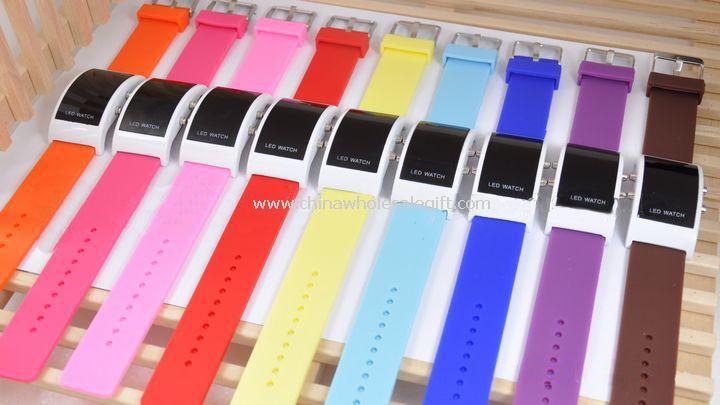 LED plastic band watch