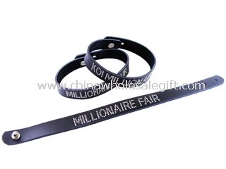 Logo printed silicone bracelet