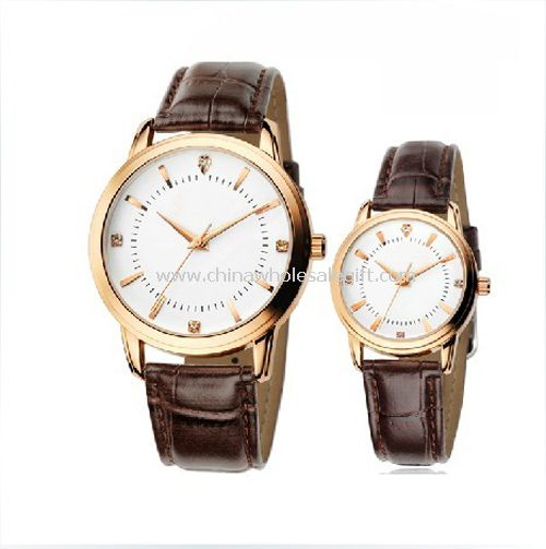 Leather band gift watch