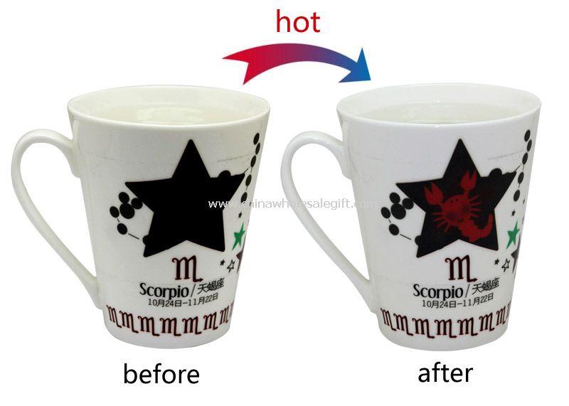 Heat change ceremic cup