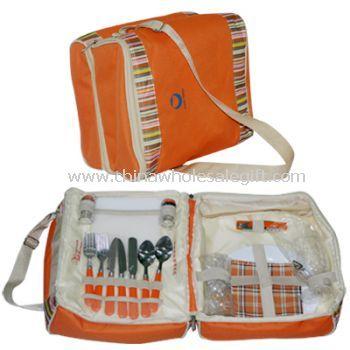Stripped Pattern Picnic Bag