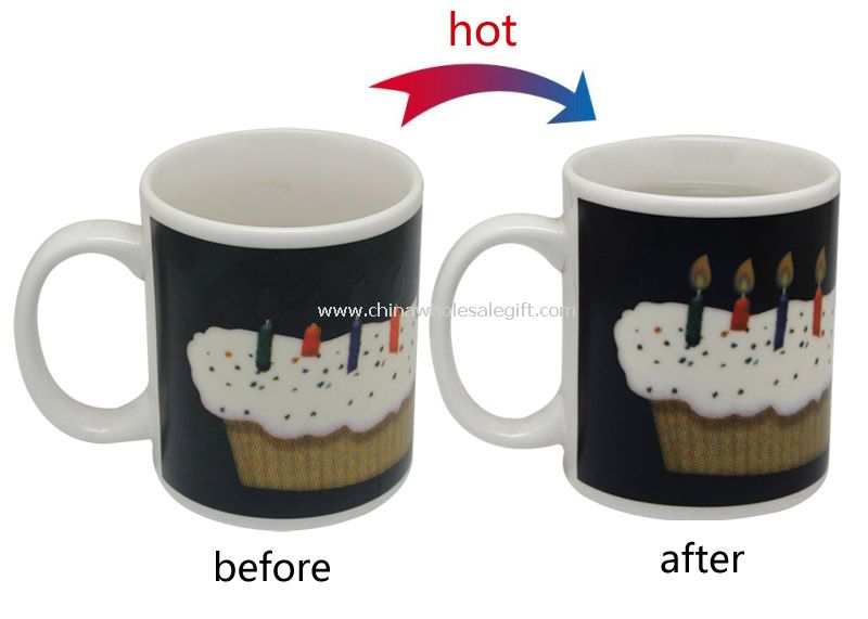 Cake color change cup