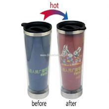 Hot color change stainless steel cup images