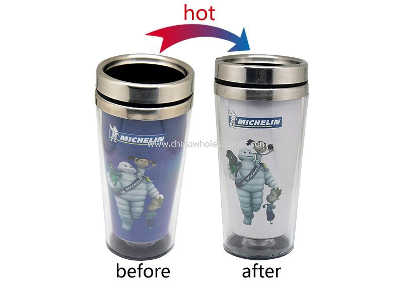 Gift hot change stainless steel cup