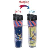 Cartoon color changing plastic mug images