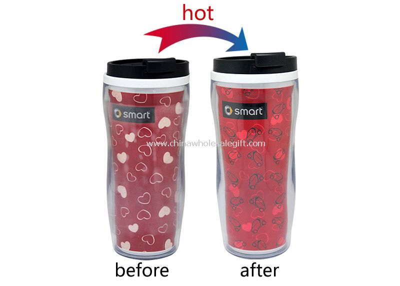 Promotional color changing plastic cup