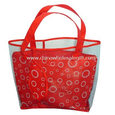 PVC Handbag With Two Layers Of Material