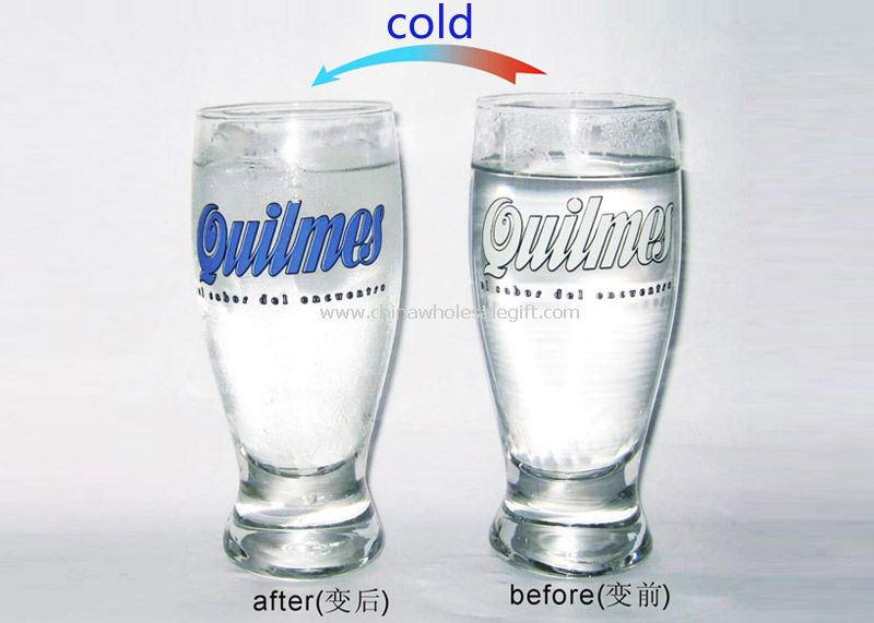 Cold change glass cup