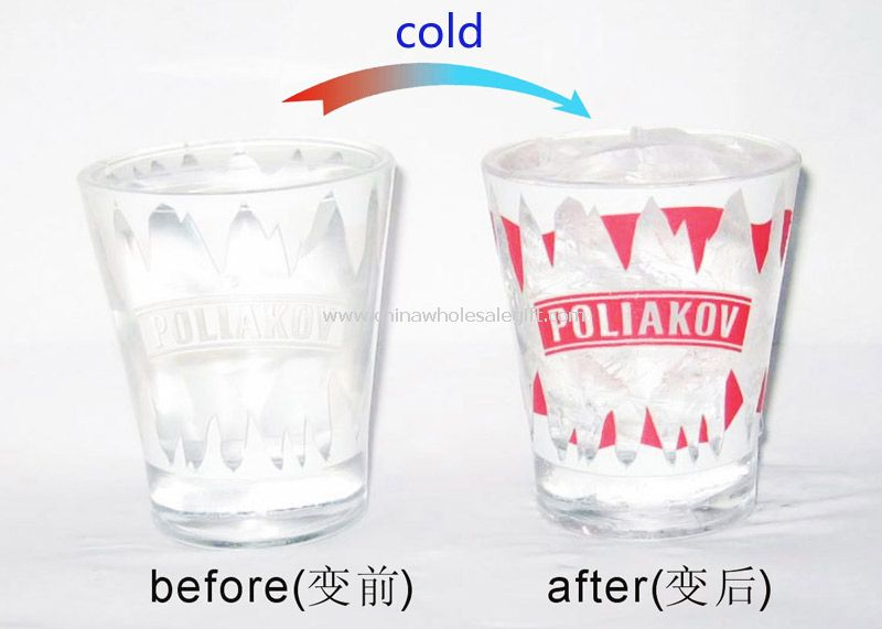 Glass cold change cup