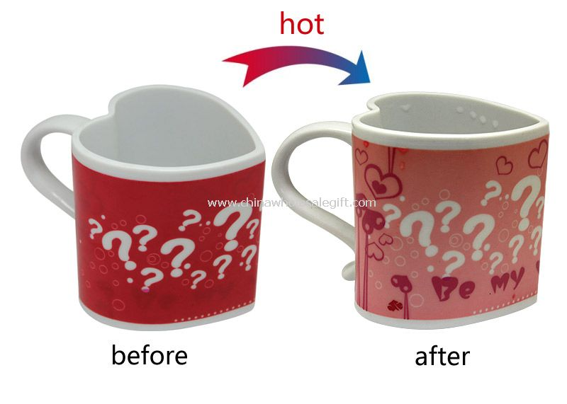 Hot color change love cup