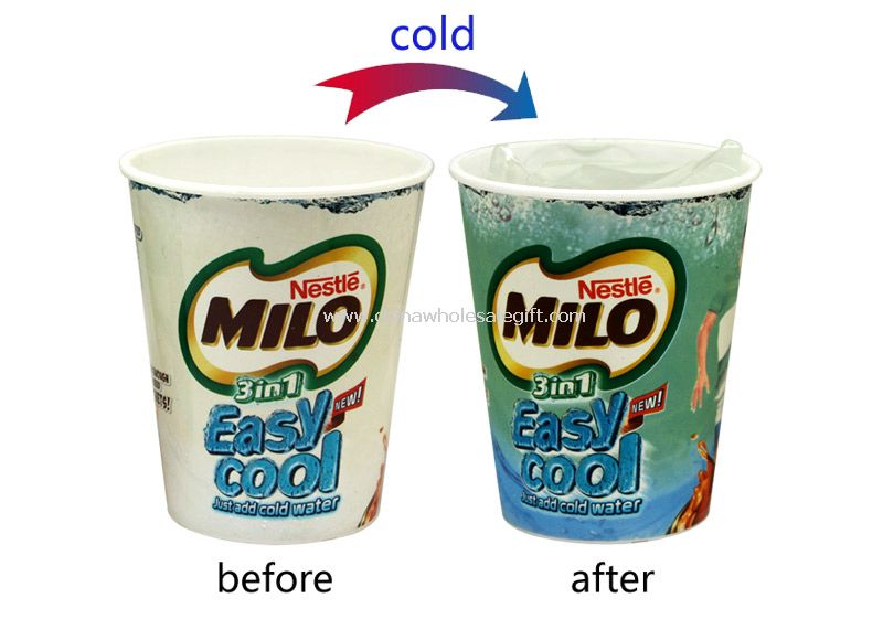 Plastic cold color change cup