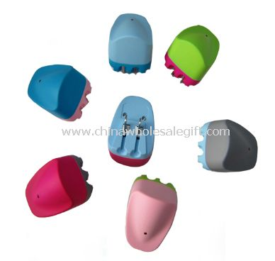 Colorful travel charger in US plug