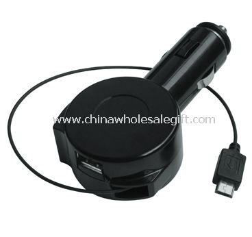 Retractable in car charger