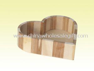 Heart Shape Wooden Box